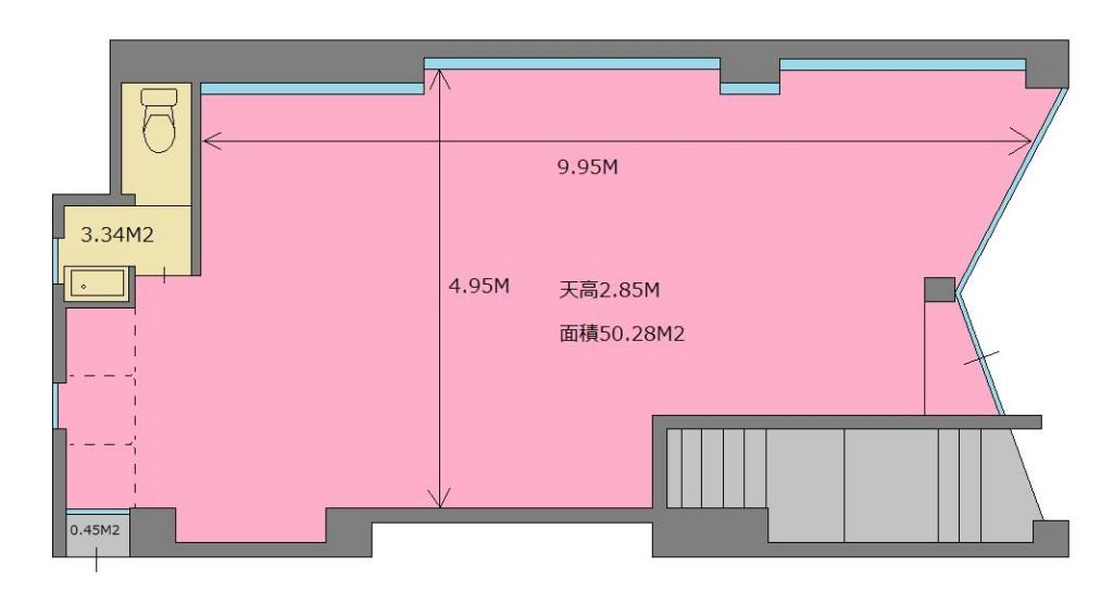 王子 レンタルスタジオの図面