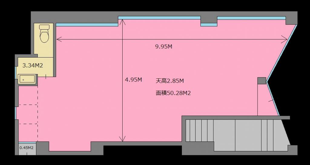 東京都 北区 王子 レンタルスタジオ 飛鳥山 図面