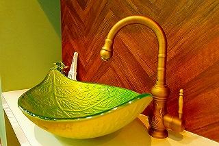 王子スタジオの洗面台
