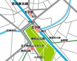 北区 王子 レンタルスタジオ アクセス マップ